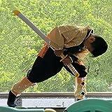 Ninja Sword Espada De Madera Devil Slayer COS Modelo De Arma De Utilería Agatsuma Zenitsu Juguete Espada De Regalo Colección De Utilería Accesorios para Disfraces 104cm / 41 Pulgadas