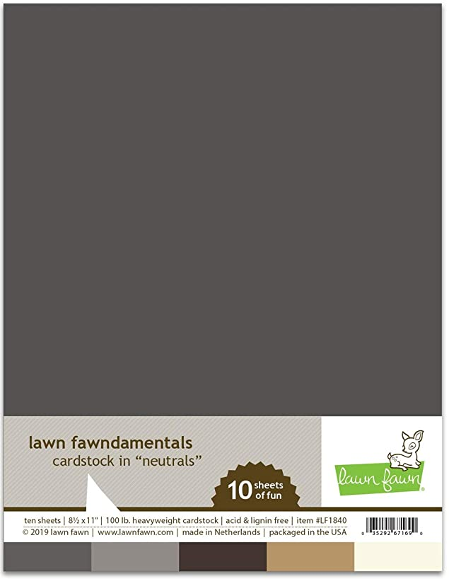 Lawn Fawn Cardstock - Neutral