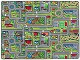 Tapis de Jeux Rues 1,40m x 2,00m, Tapis de Jeu Enfant | Tapis Circuit Voiture | Tapis de Sol Enfant de Haute Qualité