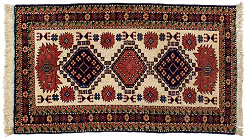 Lifetex.eu Hochwertiger Orientteppich Ardebil-Muster (ca. 85x150 cm) Klassisch handgeknüpft Schurwolle Braun