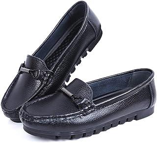 [Leetaker] レディースモカシン バレエシューズ ラウンドヘッドシューズ ナースシューズ 学生靴 レディース安全靴 通勤 通学 冠婚葬祭 デート 長時間立ち 看護師 履きやすい 疲れにくい ドライビングシューズ