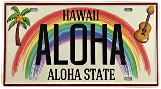 Angeloken New Retro Vintage License Plate Hawaiian Aloha State Tin Sign for Home Decor..