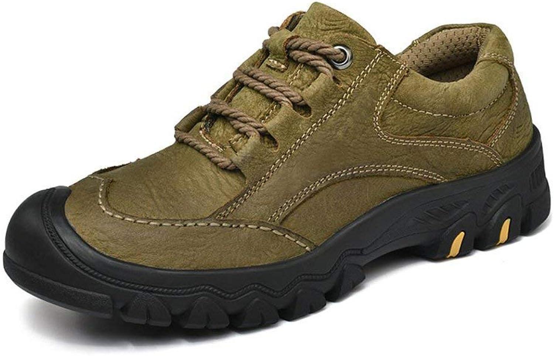 Herren Outdoor Wandern Sportschuhe, Trekking Wandern, Camping Schnür-Lederstiefel Schuhe, Herren Wasserdichte Wanderschuhe (Farbe   EIN, Gre   43) (Farbe   B, Gre   38)