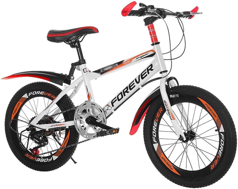 ETZXC Erwachsene Kinder Outdoor Mountainbike Stufenlos regelbare Geschwindigkeit Student Fahrrad Reise Kinderfahrrad Geeignet für Kinderfahrrder-20inches