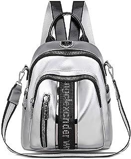 N\C Rucksack für Damen, modisch, lässig, Reiserucksack, einfach, weiches Leder