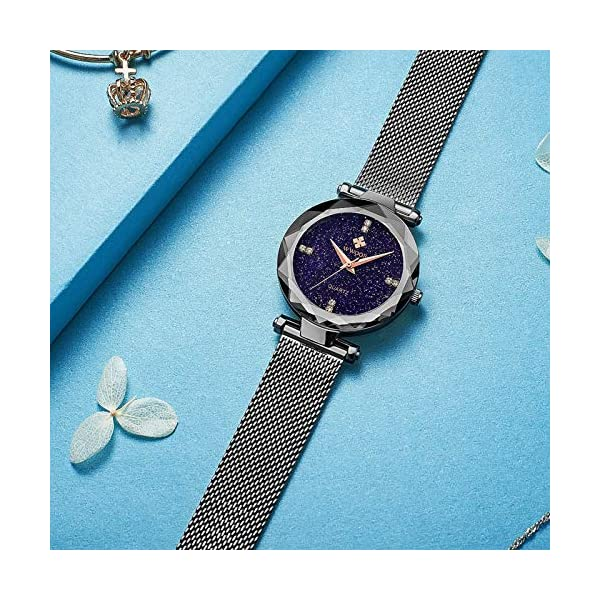 Womens Watches Original Fashion Analog Quartz with Adjustable Steel Mesh Watch Waterproof Tiny Wrists 10-16mm Band …