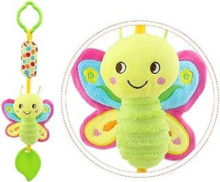 TOYANDONA 1pcs Infant Baby Newborns Crib Rattles Toys Cartoon Hanging Animal Educational Stroller Rattles Toys Plush Toys
