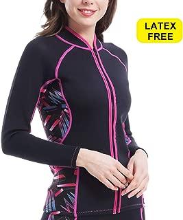 Women Neoprene Sauna Suit Top Workout Coat Running Jacket Full Zip