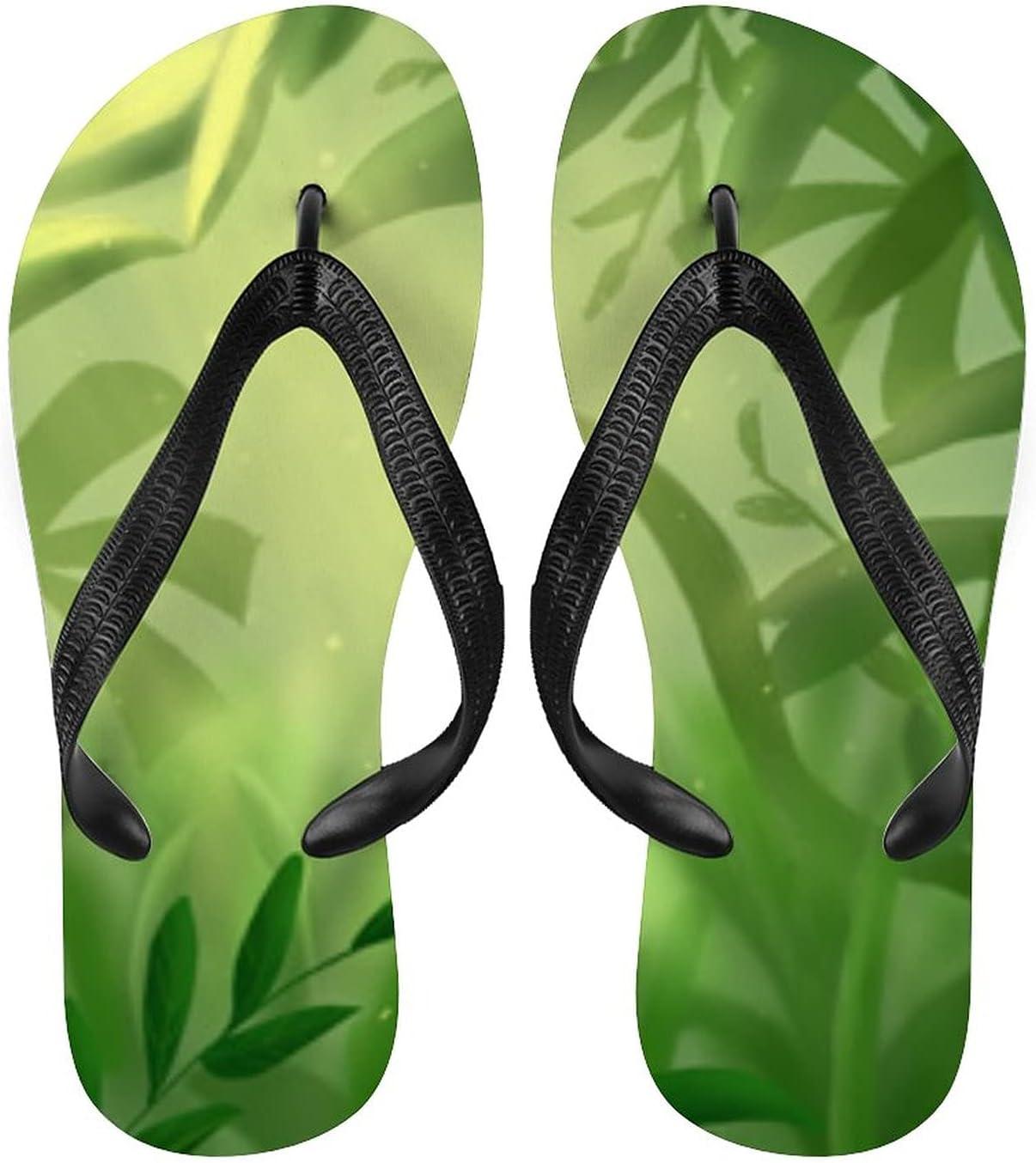 Summer Tropical Rainforest Adult Max 84% OFF Flip Beac Flops Max 44% OFF Non-Slip