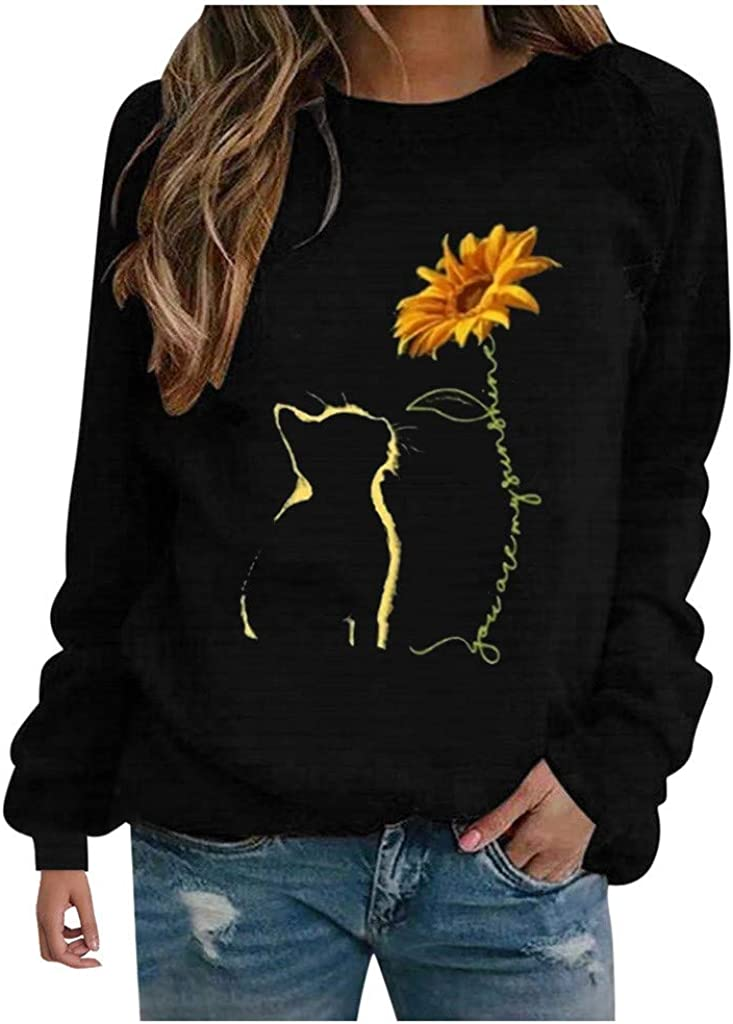 F_topbu Sweatshirt for El Paso Mall Women Round-Neck Long Top Challenge the lowest price of Japan A Sleeve Shirt