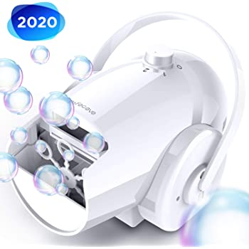 Bubble Machine Automatic Bubble Blower - Portable Bubble Maker for Kids and Babies of 18/24/36 Months with 2 Speed Levels, Plug-in or Battery-Driven Bubble Toys with High Output for Parties Birthdays