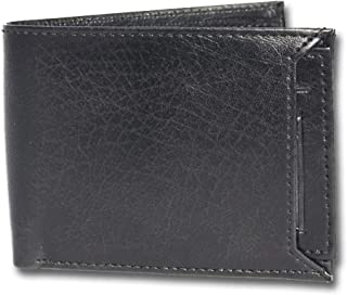 YZBuyer Shinny Black Genuine Leather Men's Wallets with Gift Box