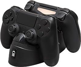 HyperX Chargeplay Duo - ایستگاه شارژ کنترل کننده برای Playstation 4. دو کنترلر DUALSHOCK 4 را از طریق پورت اضافی شارژ می کنید. شارژر کنترلر باریک DUALSHOCK 4 سونی PS4 / Pro / PS4 - (HX-CPDU-A)