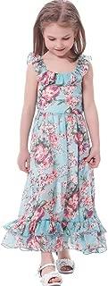 Girl's Spaghetti Straps Casual Bohemian Beach Maxi Long Dress