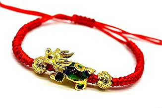 MANRUO Feng Shui The Best Red String Bracelet with Color Changed Money Turtle and Pi Xiu/Pi Yao Attract Wealth and Good Luck