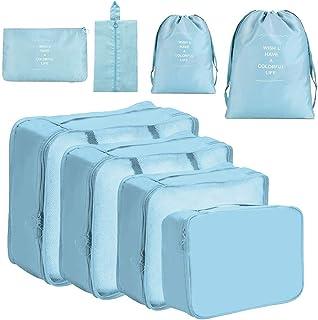 Meowoo Organizer Valigia Set di 8 Organizzatori da Viaggio, Bagagli Imballaggio Sacchetti Organizer per Valigia per Vestit...