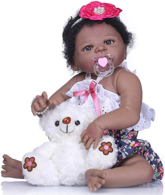 ZIYIUI 55cm 22 inch Reborn Baby Doll Full Body Soft Silicone Girls Doll , Highend Gift Birthday