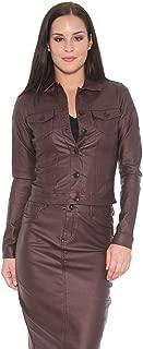 Suko Jeans Women's Trucker Jacket - Wax Coated Denim