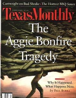 Texas Monthly Magazine - The Aggie Bonfire Tragedy [April 2000]