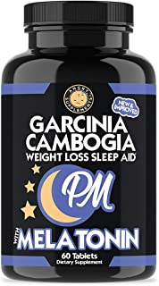 Garcinia Cambogia PM Weight Loss Sleep Aid, All Natural Supplement w/ Valerian Root & Melatonin to Help Burn Fat Overnight...