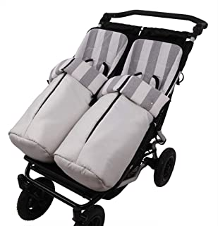 Tititnins® - Conjunto 2ud. Saco Silla Mountain Buggy Duet ARIES 2C. Ancha Gris