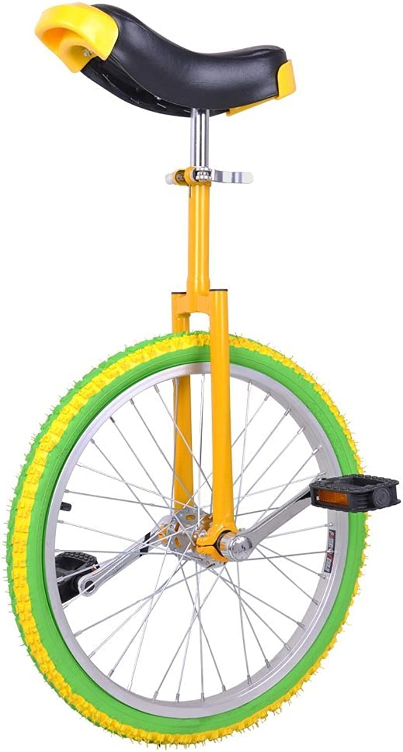 AW 20  Inch Chrome Wheel Unicycle Leakproof Butyl Tire Wheel Cycling Outdoor Sports Fitness Exercise