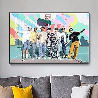 pagsundog کره جنوبی باند پسرانه BTS پوسترهای هنری و چاپ تصاویر نقاشی روی بوم روی دیوار هنر تزئین اتاق نشیمن دکور Cuadros. با ابعاد 20x30cm
