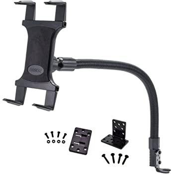 Arkon Car or Truck Seat Rail or Floor Tablet Mount with 22 inch Arm for iPad Pro iPad Air 2 iPad Retail Black - TAB188L22
