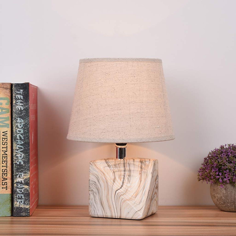 DEED Tischlampe Wohnzimmer, Schlafzimmer Nachttischlampe, Nordic Creative Dormitory College Tischlampe Keramiksockel Nachttischlampe Kreative handgemachte Geschenk Dekoration Lampen für Schlafzimmer