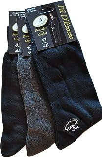 24951ffdf0a43 G.T.I. Lot de 24 Paires de Chaussette Fil d'Écosse 100% Coton Remaillé Ultra