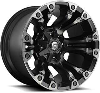 FUEL Vapor MBT-Matte BLK DDT Wheel with Painted (18 x 9. inches /6 x 135 mm, 1 mm Offset)