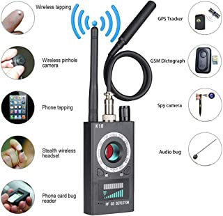 Anti Spy Detector,Wireless Bug Detector Signal for Hidden Camera Laser Lens GSM Listening Device Finder Radar Radio Scanner Wireless Signal Alarm
