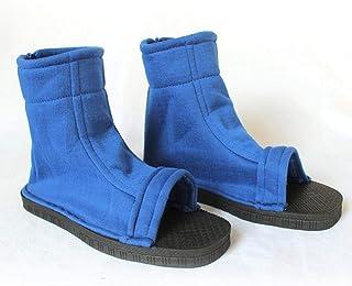 Anime Naruto Akatsuki Nanja Cosplay Zapatos Uzumaki Sakura Sasuke Kakashi Sandalias azules negras Botas de fiesta de disfraces de Halloween Barato