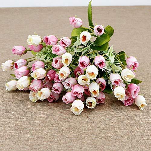 yingmu 18 Pezzi Rose Artificiali, Singolo Lungo Stelo Falso Rosa Seta Bouquet da Sposa Fiore Realistico per la Decorazione Domestica dell'ufficio dell'hotel del Partito del Giardino Delightful