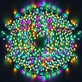 Luces Navidad Exterior, Ulinek 1000LED 100M Guirnaldas Luces Navidad 4Colores Cadena Luces con 8 Modos Impermeable IP44 Luces LED Decorativas para Arbol Navidad Interior Habitacion Jardin Fiesta Bodas
