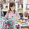 aovowog 1600+ Lavoretti Creativi Bricolage Kit per Bambini,DIY Art Craft Set con Palla Pompon,Scovolini Pipa Ciniglia Steli,Cartoncini Colorati,Bastoncino del Ghiacciolo,Piuma,Paillettes,Occhi Finti #5