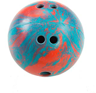 Cosom Bowling Balls, With Extra Finger Holes, For Elementary School Physical Education, Special Needs, Youth Party Game, Rubberized Bowling Ball, Kids Bowling Ball, 5 Pounds, Teal/Red Swirl