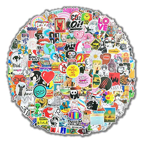 300 Pcs Featured Stickers Pack, Fast Shipped by Amazon, Random Vinyl Skateboard Skins Suitable for Children & Teens of All Ages, Cool Decals for Helmet Flask Laptop Bike Car Phone Case Suitcase