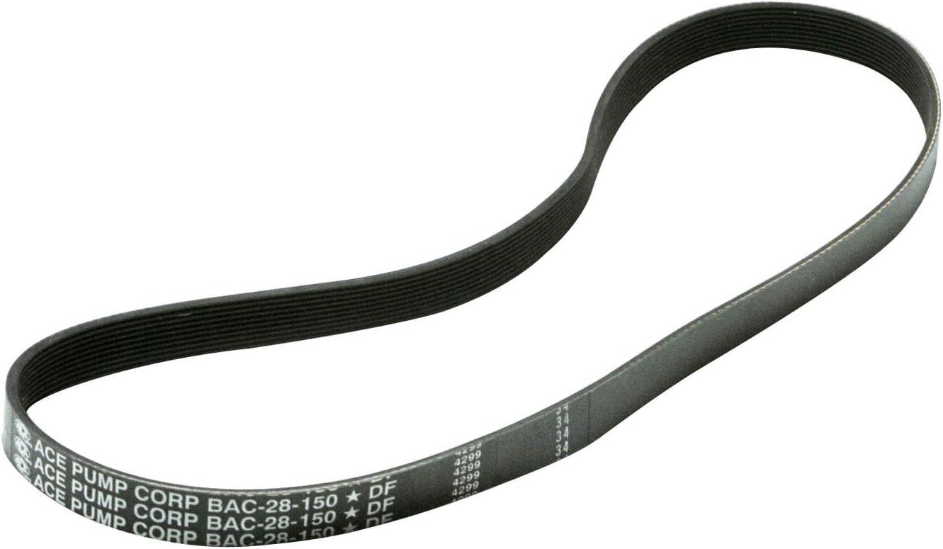 Ace [Alternative dealer] Excellent Pumps BAC-28-10-150 40611 Belt 10 Poly-V PTO for Groove