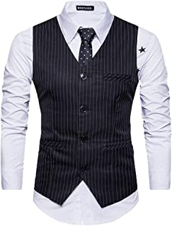 Men's Elegant Single Breasted Waistcoat Waistcoat V Neck Modern Casual Leisure Business Casual Slim Fit Tuxedo Vest