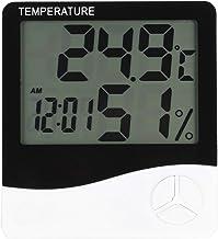 Cikonielf Termómetro de habitación Higrómetro Interior Digital Monitor de medidor de Temperatura y Humedad de Escritorio para la guardería de la Oficina en casa