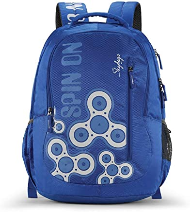 Skybags New Neon Polyester 1850 cm Blue Spacious School Backpack-32 Litres