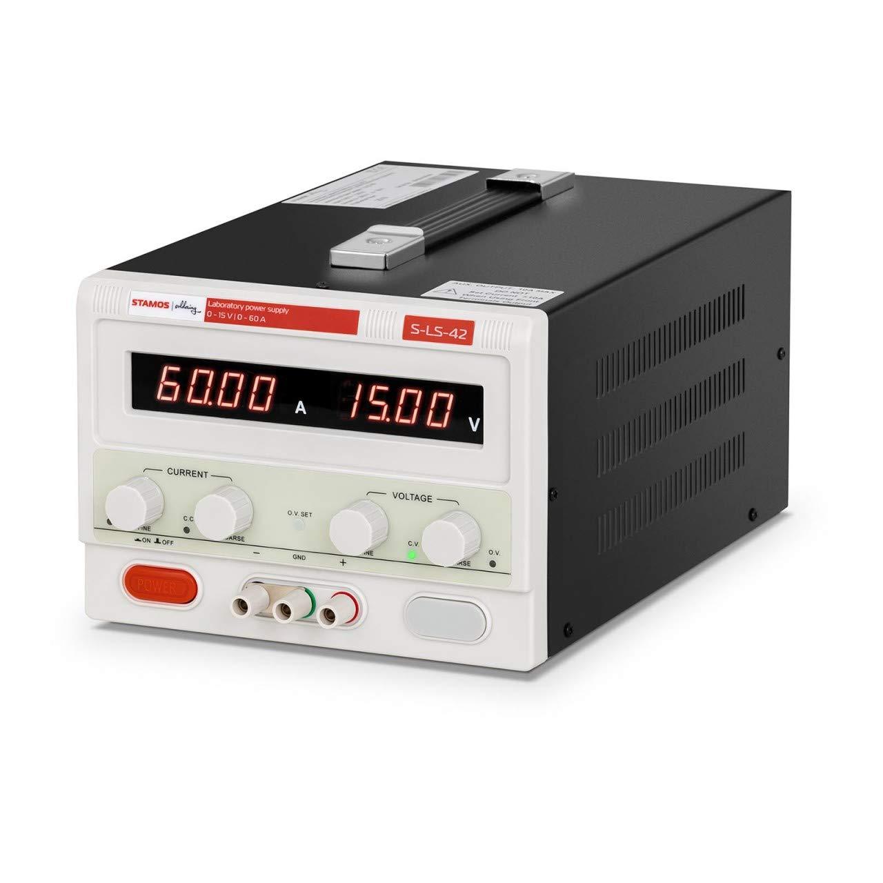 0-30 V, 0-30 A DC, 900 W, Baja ondulaci/ón residual Stamos Soldering Fuente De Alimentaci/ón Para Laboratorio Alimentador Regulable S-LS-78