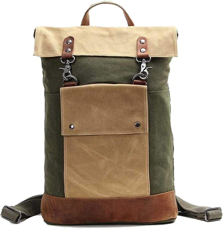 LIXUEER Retro Rucksack Canvas Unisex Umhngetasche Student Breathable Matte Large Capacity Laptop-Tasche Einkaufen