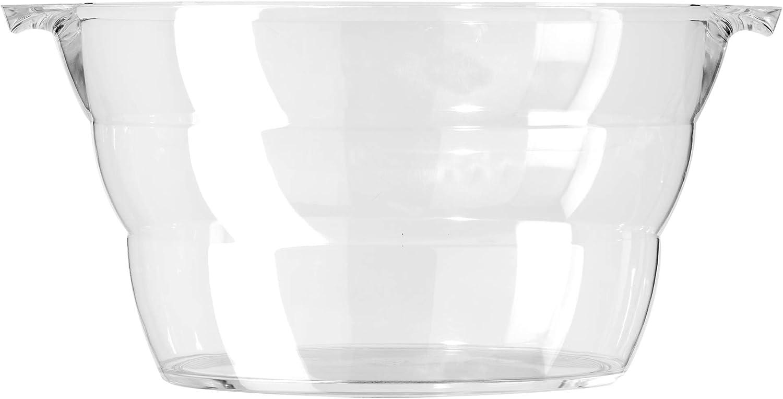 Oggi Acrylic Oval Party Tub-18.5 x 11 Clear 18.5 by 11