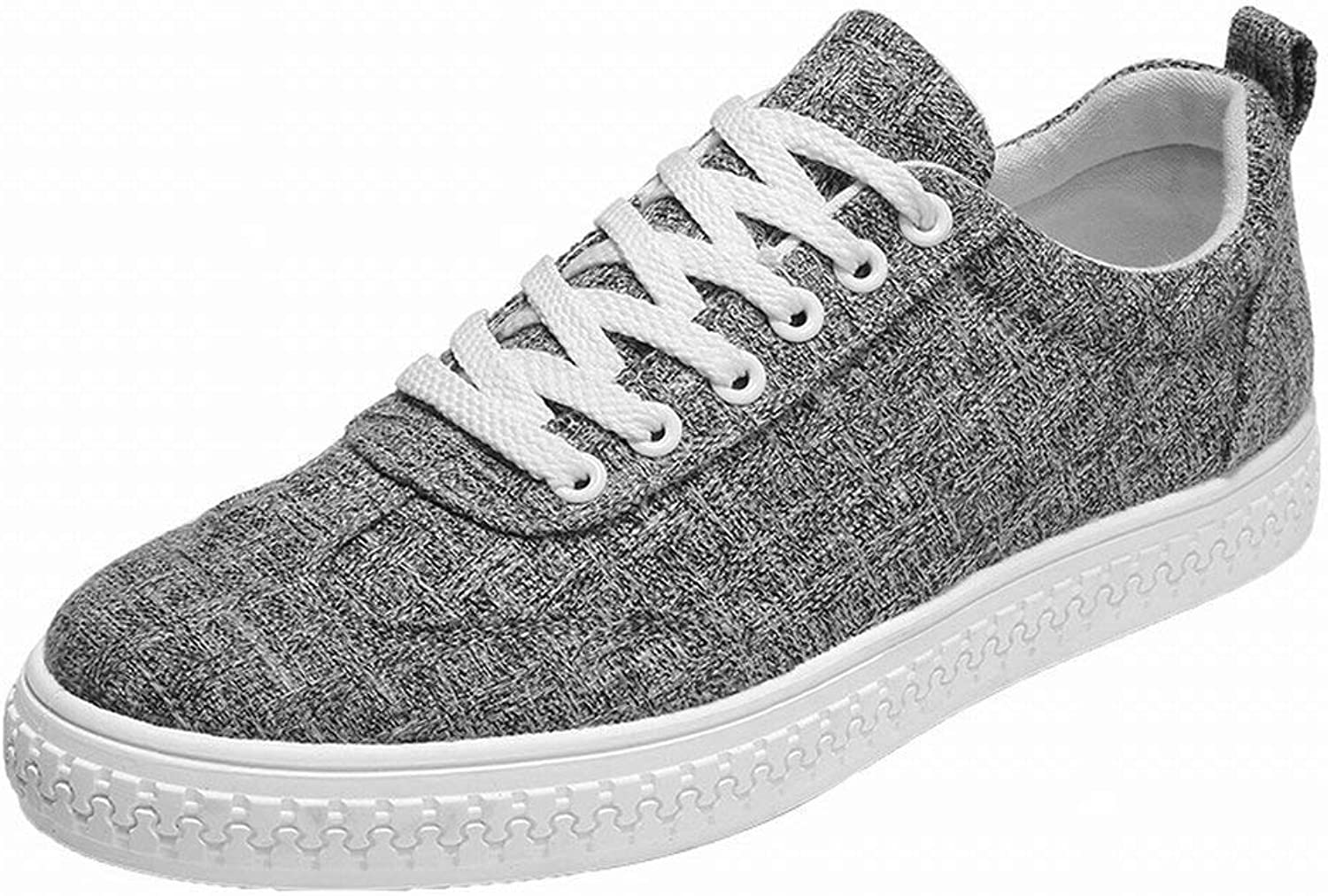 Fuxitoggo Fashion Trend Canvas Canvas shoes Comfortable Breathable Casual All-match Men's shoes (color   Dark grey, Size   UK 6.5)