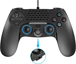 Wired PS4 Controller, Dual Vibration USB Wired PS4 Remote Controller Joystick Gamepad with 3.5MM...