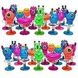 KP Juguete Monstruos Saltarines - Paquete de 36 Unidades, Ideales Fiesta Cumpleaños y Piñata