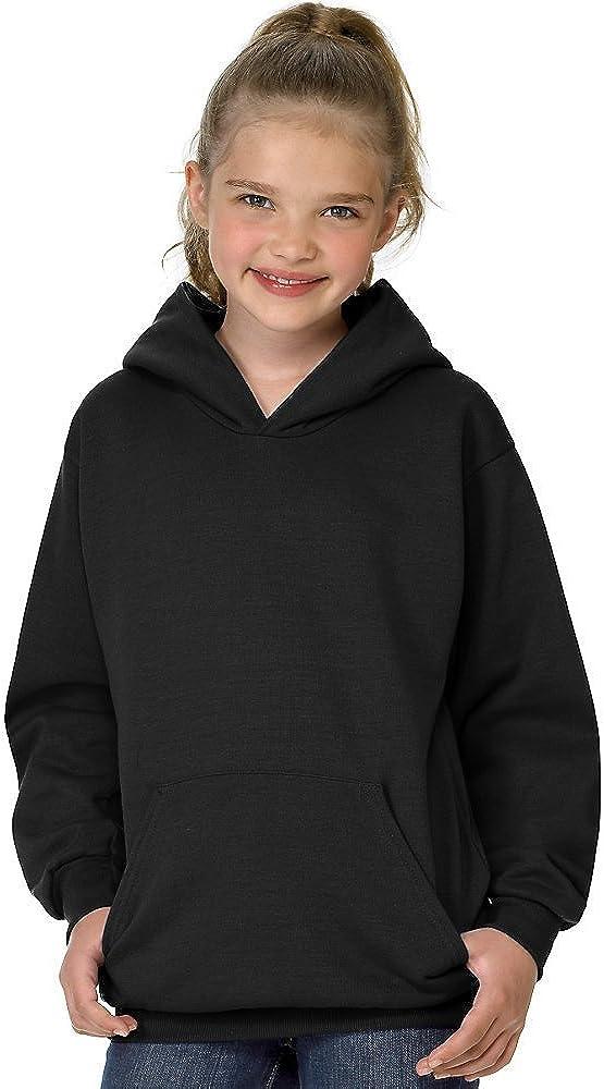 Hanes Youth ComfortBlend EcoSmart Pullover Hoodie_Black