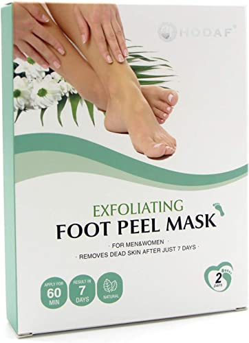 Foot Peel Mask 2 Pack, Peeling Away Calluses and Dead Skin cells, Make Your Feet Baby Soft, Exfoliating Foot Mask, Re...